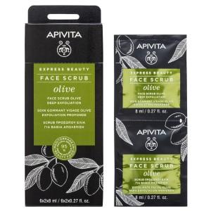 Apivita Intensive Exfoliating Cream with Olive 12x8ml