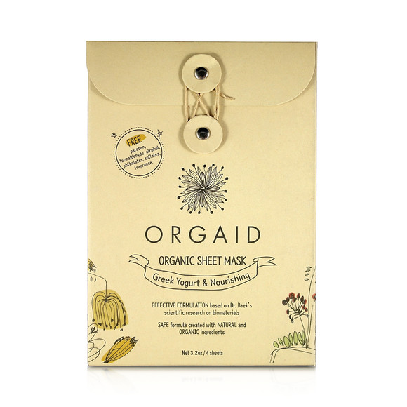 Orgaid Greek Yogurt & Nourishing Organic Sheet Mask 4pcs